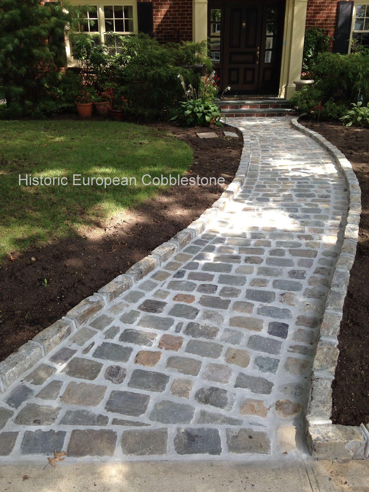 Granite Cobblestone Pavers : Quot and antique sandstone cobblestone sawn at