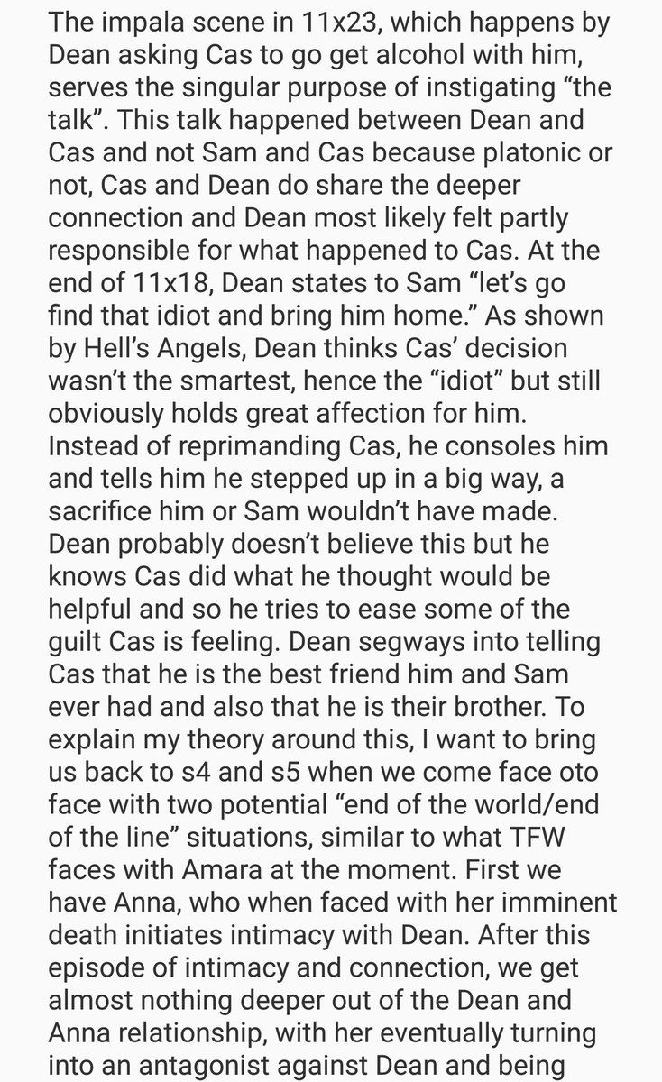 Someone finally said it. Cas may have thanked Dean, but he looked a little hurt, or sad after Dean called him a brother.