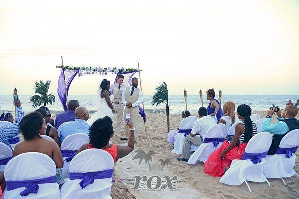 Ocean City Maryland Beach Wedding Set Up Archway By Rox Weddings Of