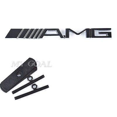 3d metal #grill car amg sticker emblem badge decal for #mercedes ...
