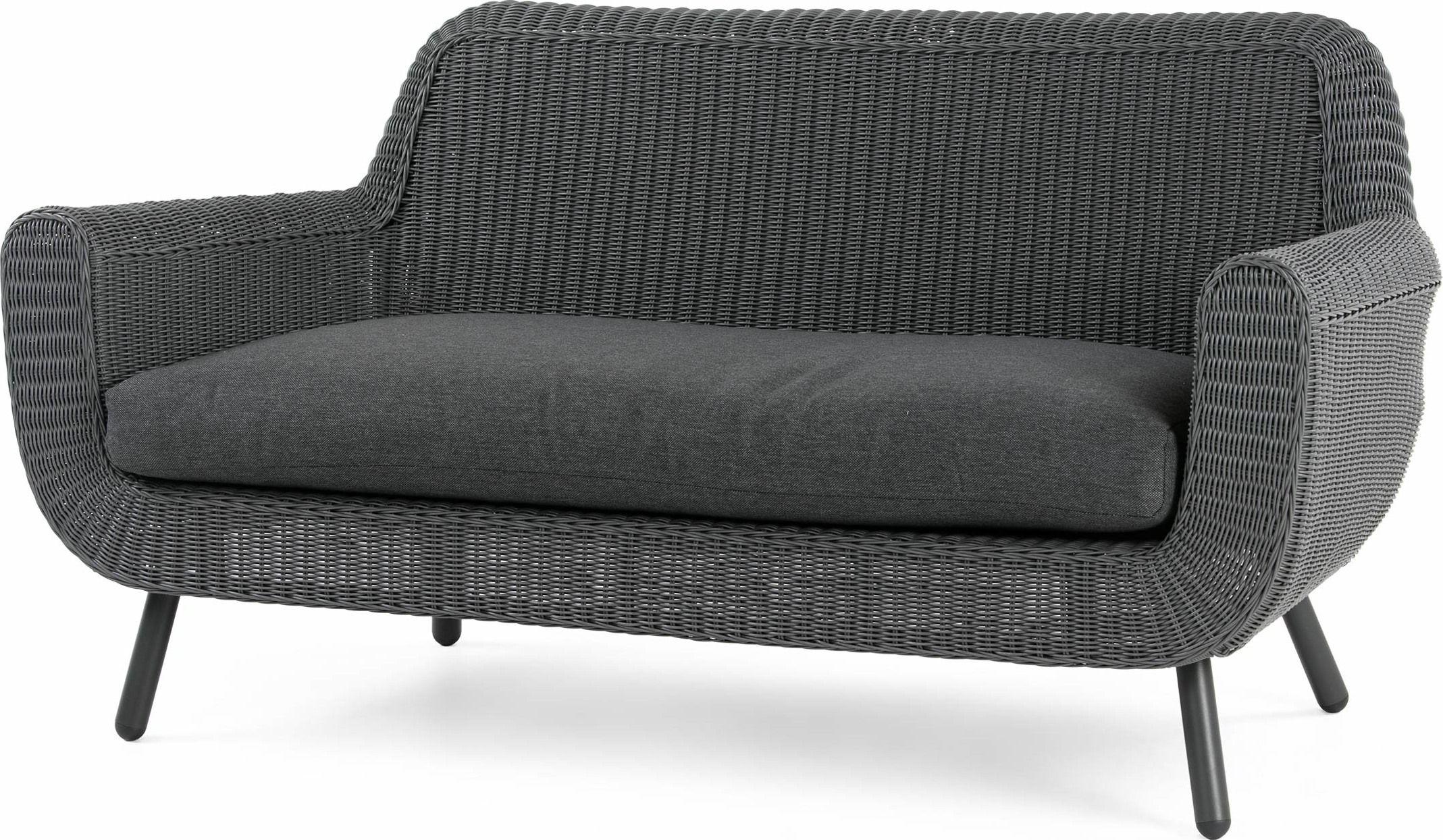 MADE Rattan Grey Sofa | Products | Garden sofa, Wicker sofa ...