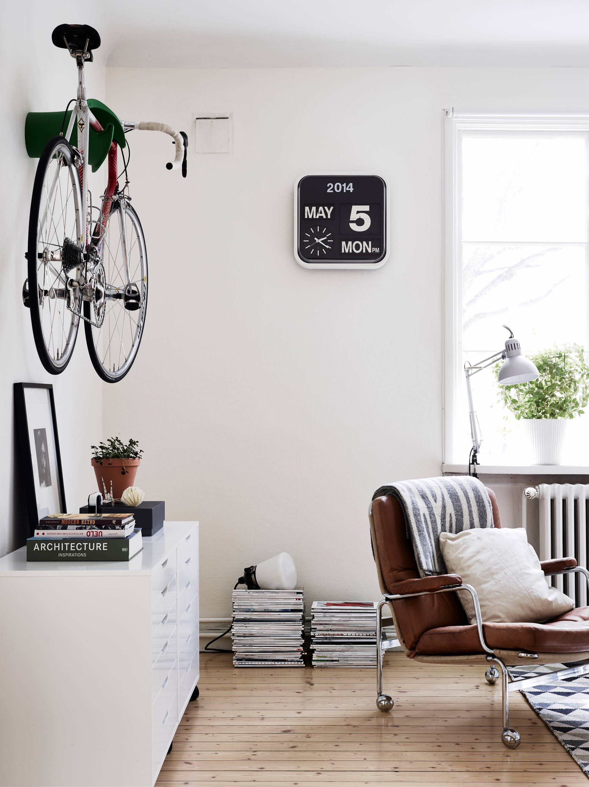 Bike in the living room | Pinterest | Clocks, Interiors and Living rooms