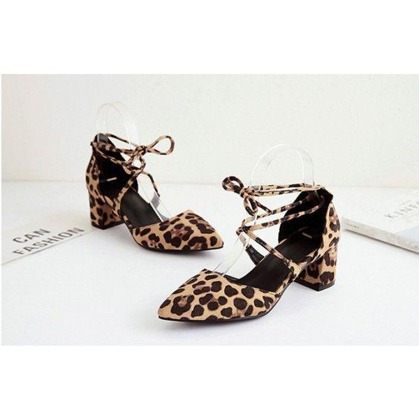 low heel leopard shoes