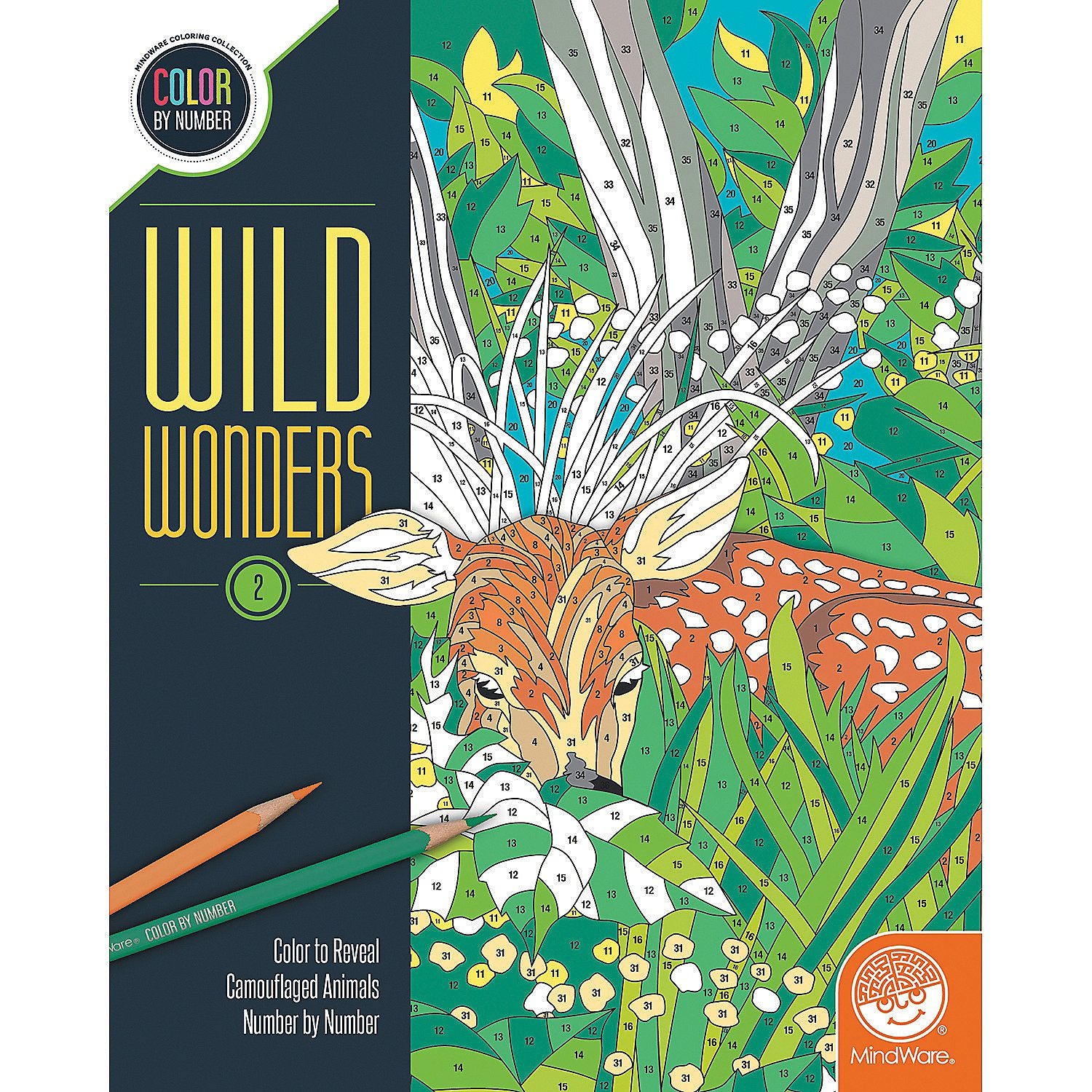 Wild+Wonders+Color+by+Number:+Book+2+-+Mindware.com | Cool kids ...