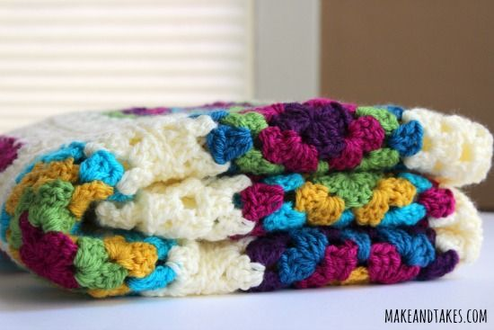 Patching Up My Granny Square Blanket   Make and Takes