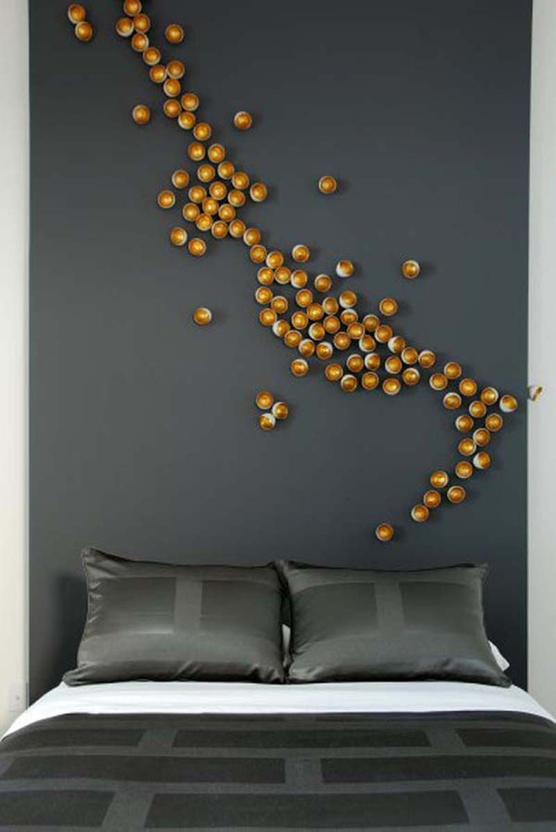 Abstract 3-d wall treatment | Bedrooms | Pinterest | Bedroom wall ...