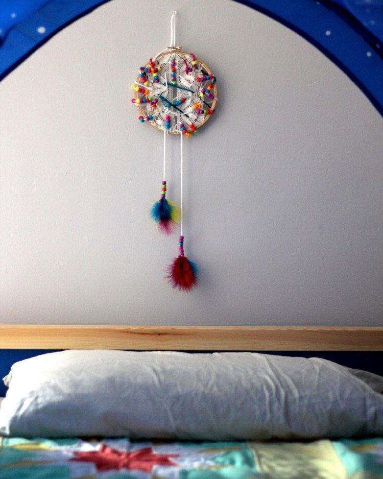 idées bricolage enfant  comment fabriquer un attrape rêve