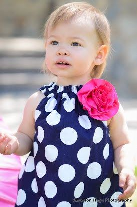 Girls Navy Polka Dot DressReady to Ship Size 2t by BBELLECOUTURE, $36.95