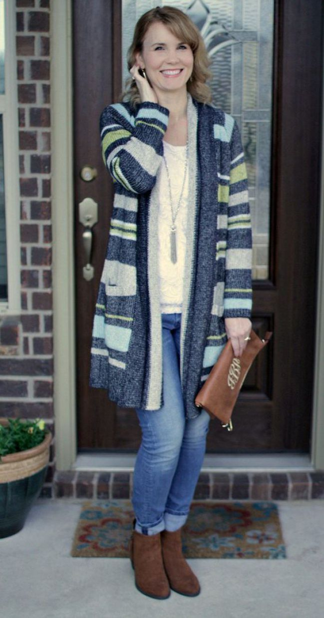 30 lovely cardigan outfit ideas this winter | winter and leather