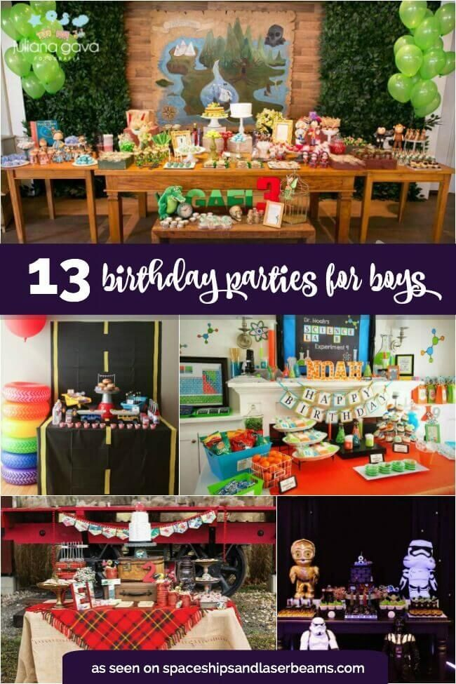 13 Best Boy S Birthday Party Ideas Boy Birthday Parties Boy Birthday Party Kids Themed Birthday Parties