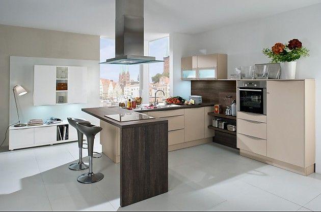 L Vormige Keuken : Lichte l vormige keuken met bar houttinten keuken pinterest