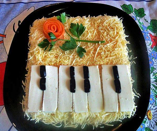 Украшение салатов: оригинальные идеи для праздничного 1