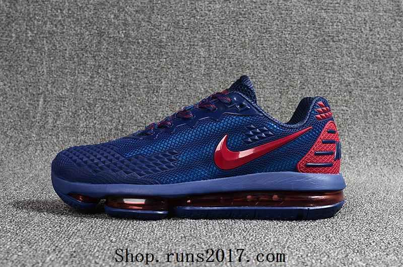 e5d37cd87a7f NIKE Air MAX 2019 KPU Navy Blue Red Men Sneakers Running Shoes