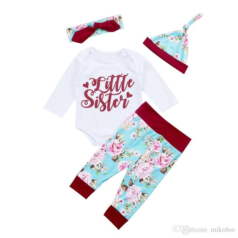 8098c497a Mikrdoo Newborn Kids Baby Girls Floral Clothes Set Autumn Little ...