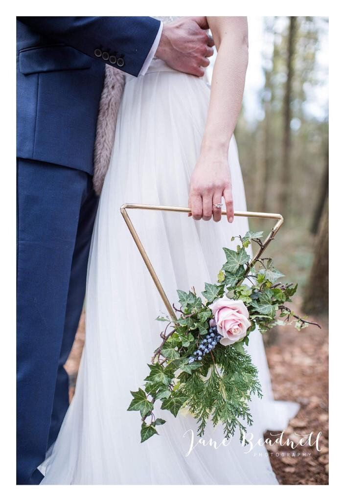 Photo of Flower girl bouquet. Bridesbride bouquet. Alternative Bride bouquet or Bridesmaid Bouquet for DIY use. Hoop wreath alternative.