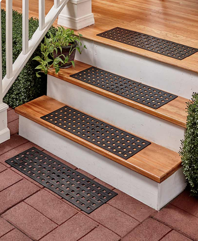 Best Unique Weave Braided Rubber Stair Treads Mats Set Of 4 400 x 300