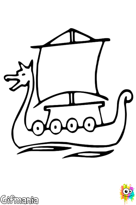 Coloriage Bateau De Princesse.Bateau Viking Vikings Vikings
