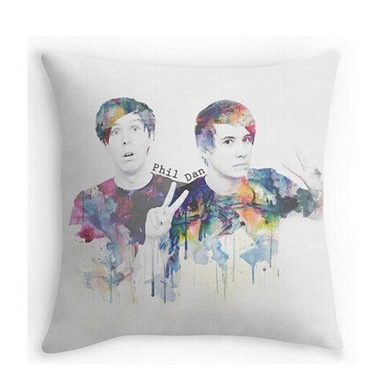 """Phil Lester and Dan Howell Pillowcases Custom 18""""x18"""" Two Sides Cool Comfortable Pillow Case"""