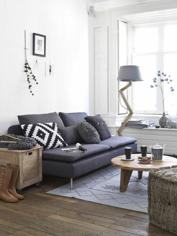 graues sofa und eine schöne lampe | Living... | Pinterest ...