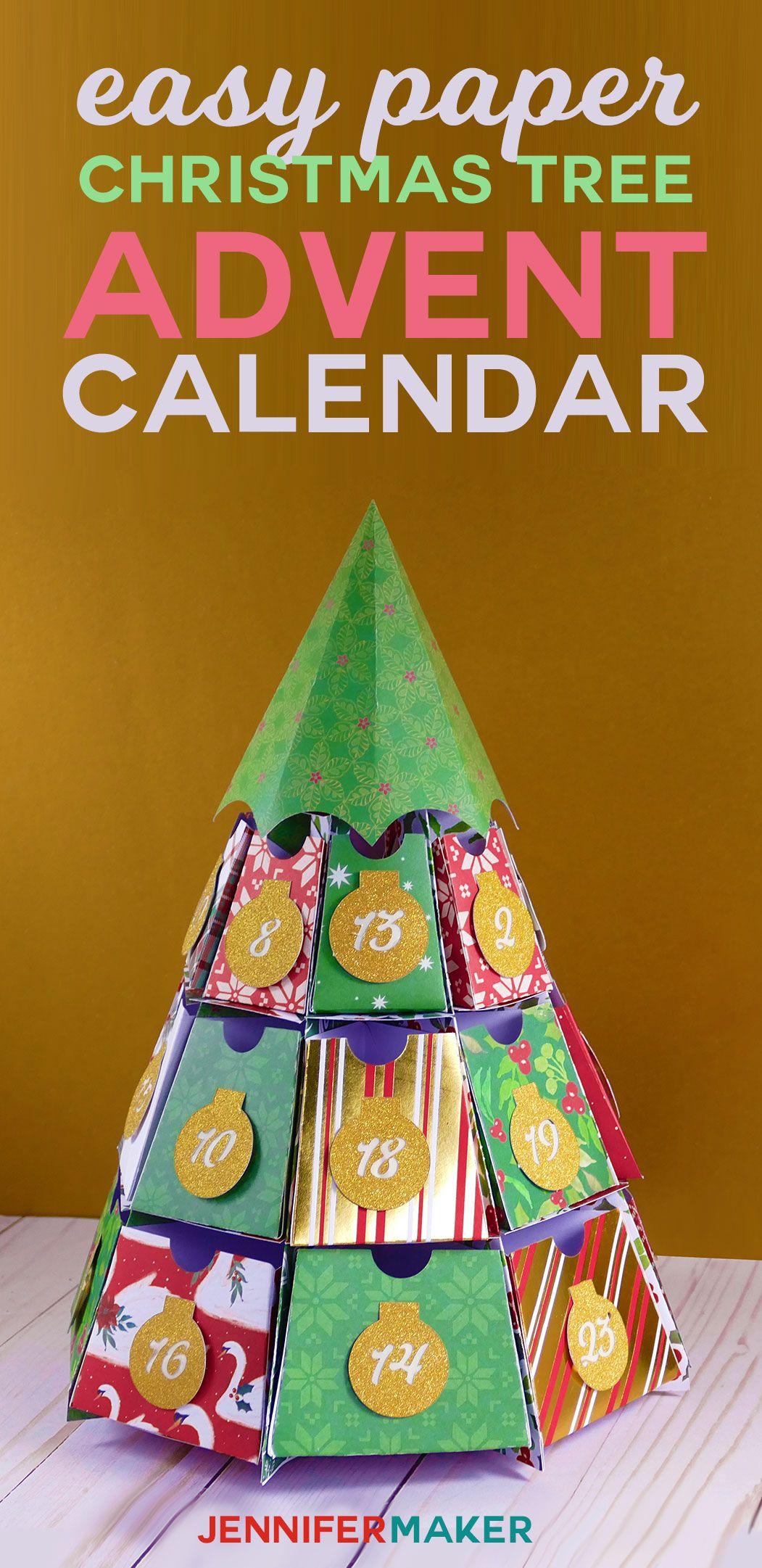 diy easy paper advent calendar svg file advent calendars and