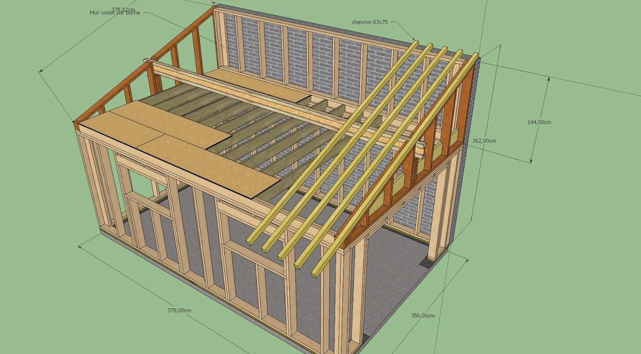 eda6670db5a3ab673d9e456947fc8785jpg - Plan Garage Ossature Bois Toit Plat
