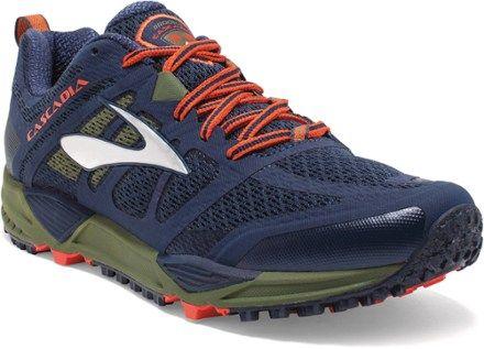 Brooks Men's Cascadia 11 Trail-Running Shoes Peacoat/Olive 14