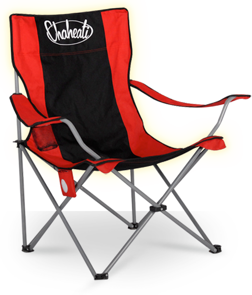 A battery operated, heated camping chair. Perfect for