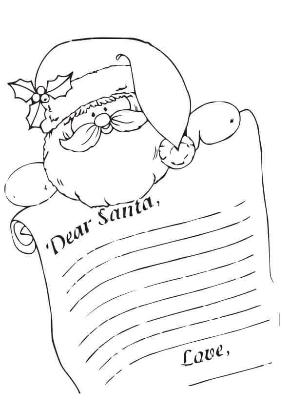 Letter To Santa Coloring Page   Santa coloring pages ...