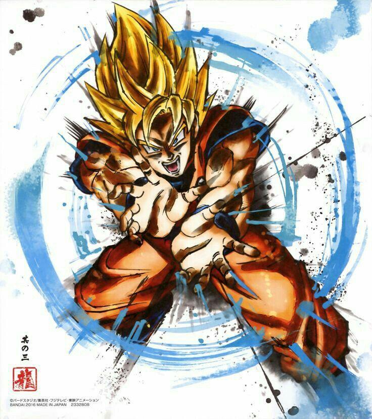 Goku SSJ - Arte Shikishi De Dragon Ball Z
