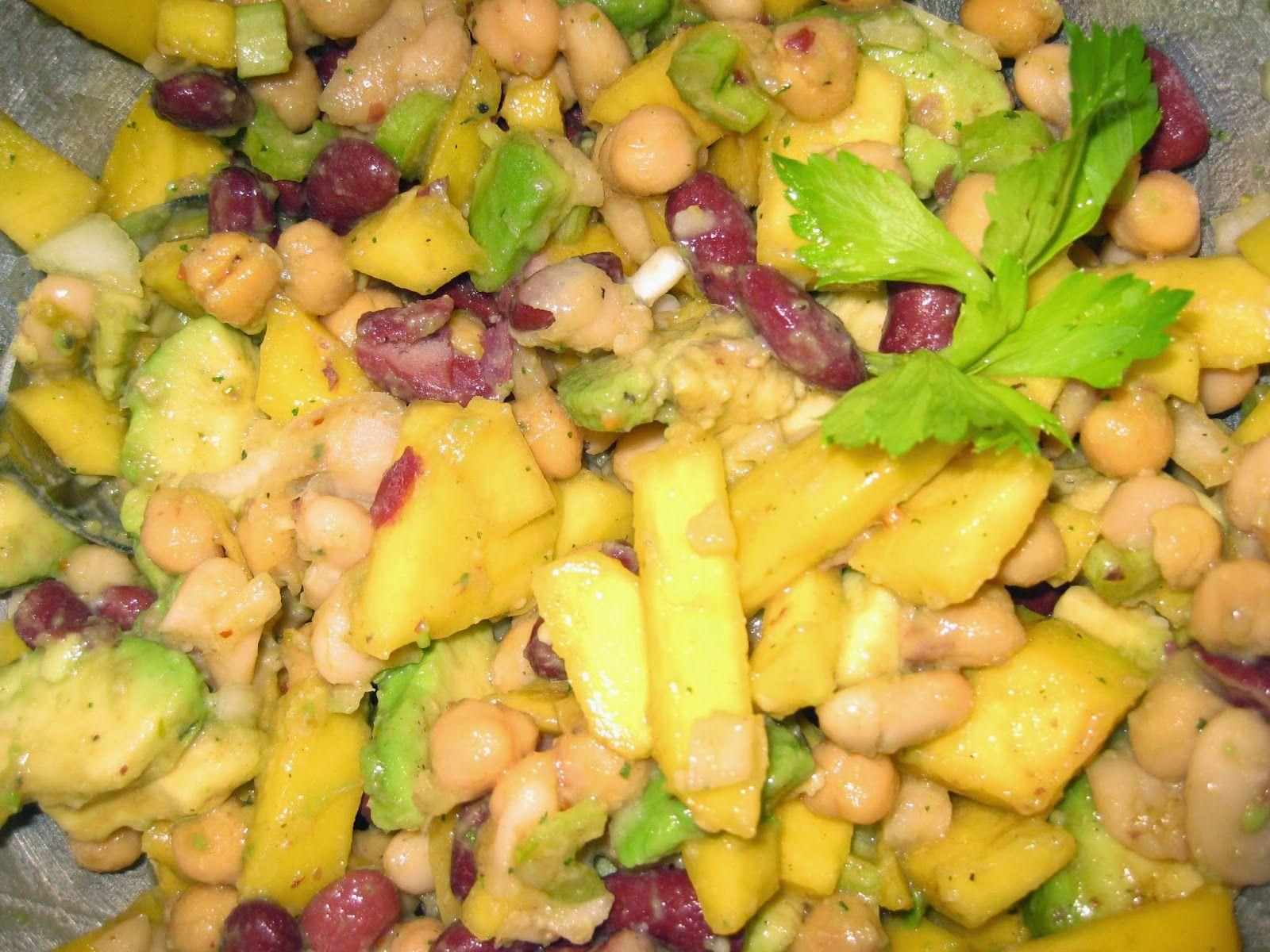 Berliner Zeitgeist: Three Bean Salad with Mango and Avocado