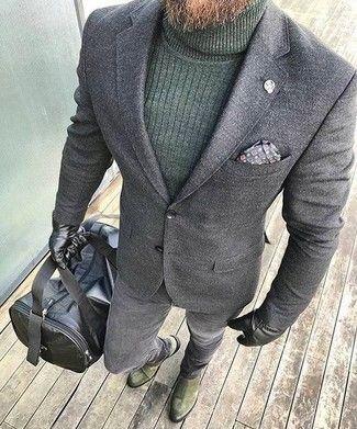 Look alla moda per uomo  Blazer di lana grigio 474f8cc0cf9