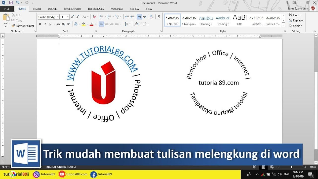Cara Mudah Membuat Tulisan Melingkar Di Word Tutorial89 Tutorial Microsoft Word Di Tutorial Kali Ini Kita Akan Membahas Bagaimana C Microsoft Video Tulisan