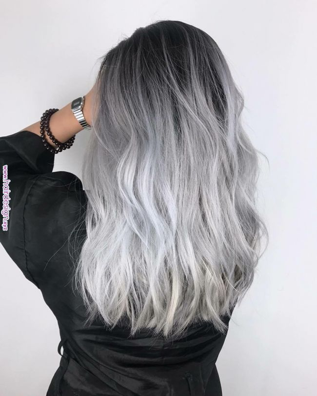 Pin By Jayme Mckinney On Hairstyles In 2019 Pinterest Silver Hair Hair And Hair Styles Pin By Jayme Mckinne Silver Hair Color White Ombre Hair Hair Styles