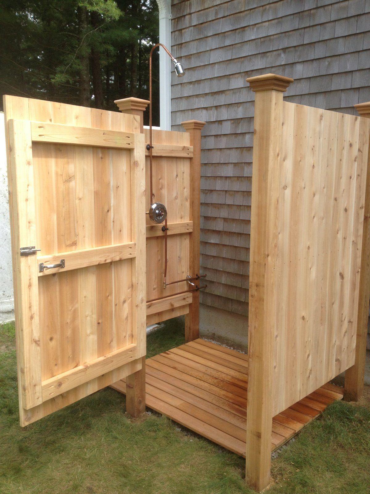 build outdoor shower
