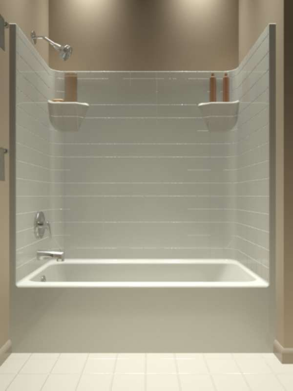 1 Piece Tub Shower Combo. Tub and Shower  One Piece Bathroom remodel ideas Pinterest