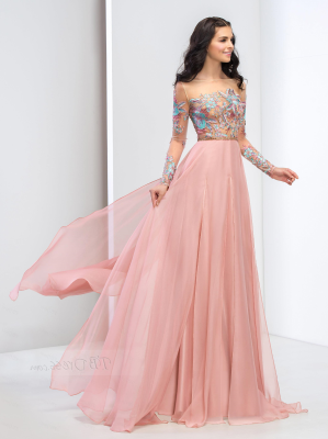 636222-long-sleeve-off-the-shoulder-flower-floor-length-prom-dress ...