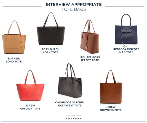 Dress Code  Interview Appropriate Handbags   The Prepary 6bc6ee6f399c3