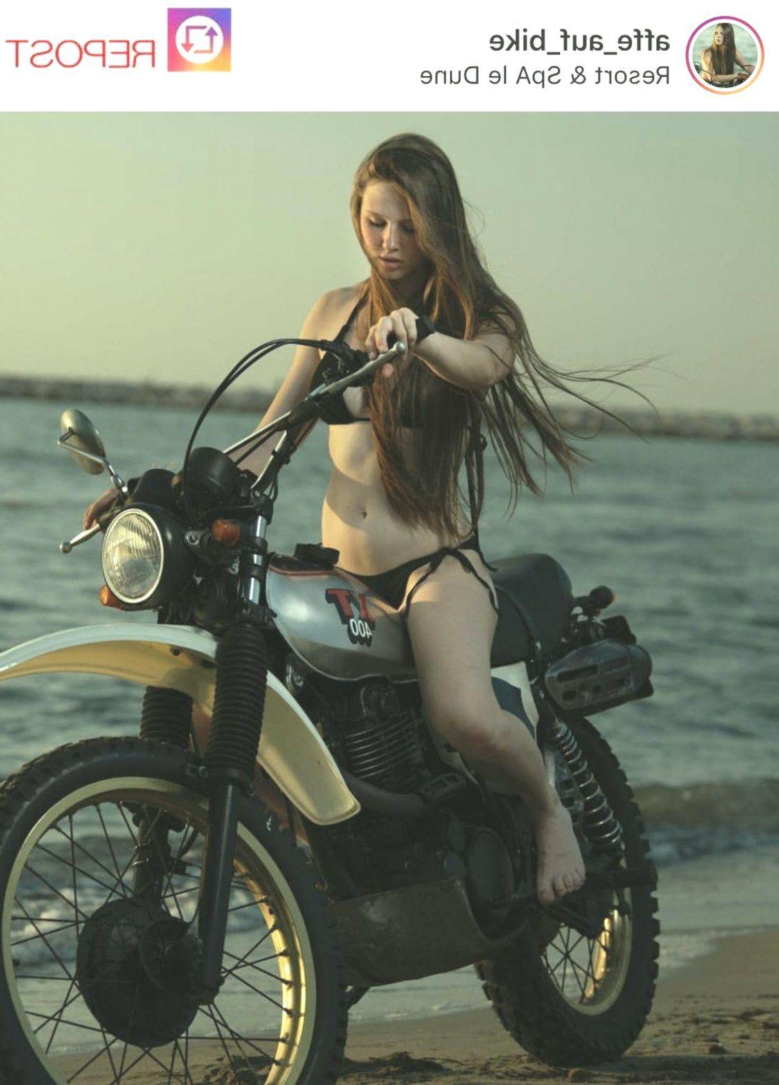 Ladies on bike motorbike women biker