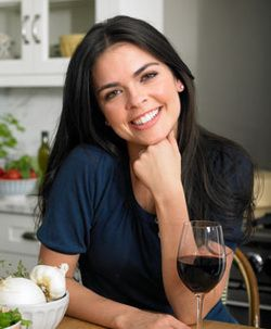 katie was restaurant critic for the tv show george hirsch. Black Bedroom Furniture Sets. Home Design Ideas