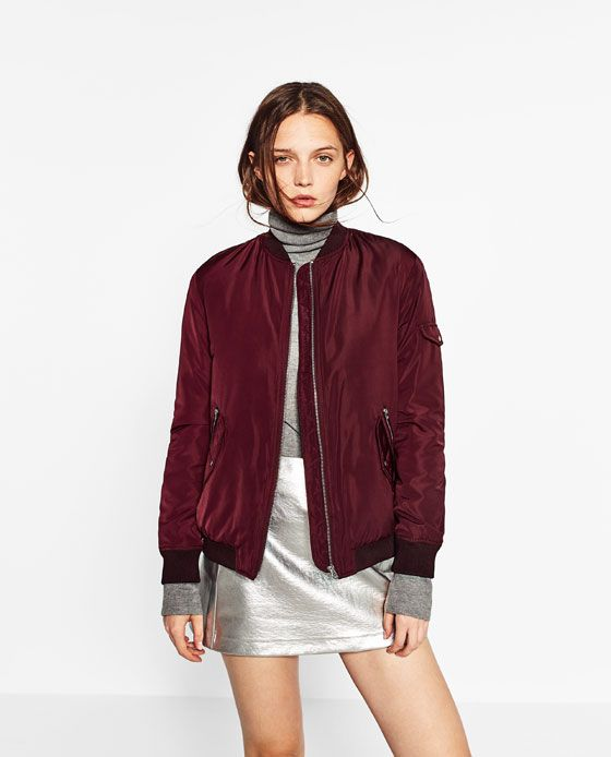reputable site a2551 76836 Image 2 of BOMBER JACKET WITH POCKETS from Zara