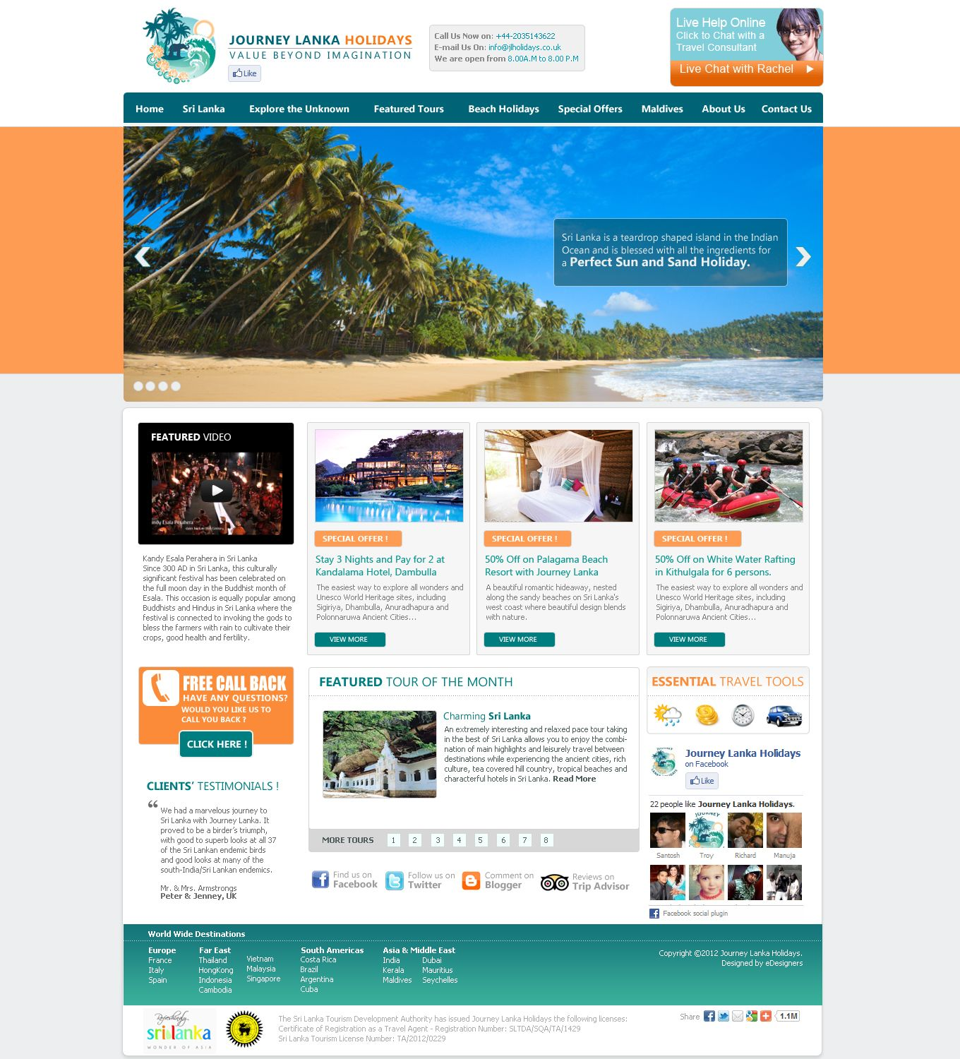 Click here to go to the company website - Proposed Website Template For A Travel Company In Sri Lanka