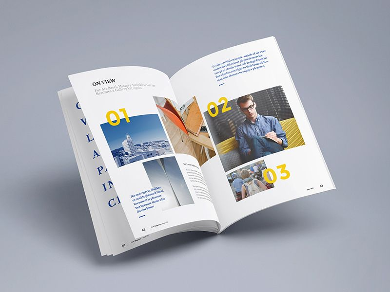 Photorealistic Magazine PSD Mock-up Mockup and Brochures - psd brochure design inspiration