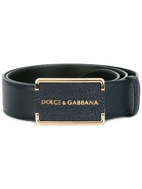 632365b7ce40a7 DOLCE   GABBANA Logo Plaque Belt.  dolcegabbana  belt