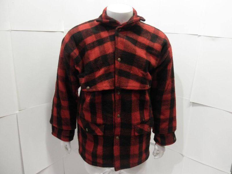 a0fdddd757f58 Vintage Pioneer Brand Union Made Wool Hunting Mackinaw Cruiser Plaid Jacket
