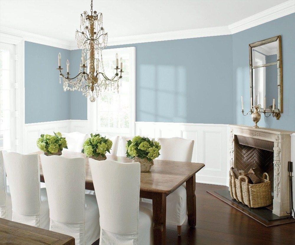 Dining Room 2 | Benjamin Moore Santorini Blue | Paint colors ...