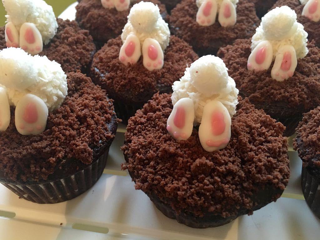 Osterhasen Muffins Rezept Urlaub Kuchen Ostern Backen Und Fondant Cupcakes