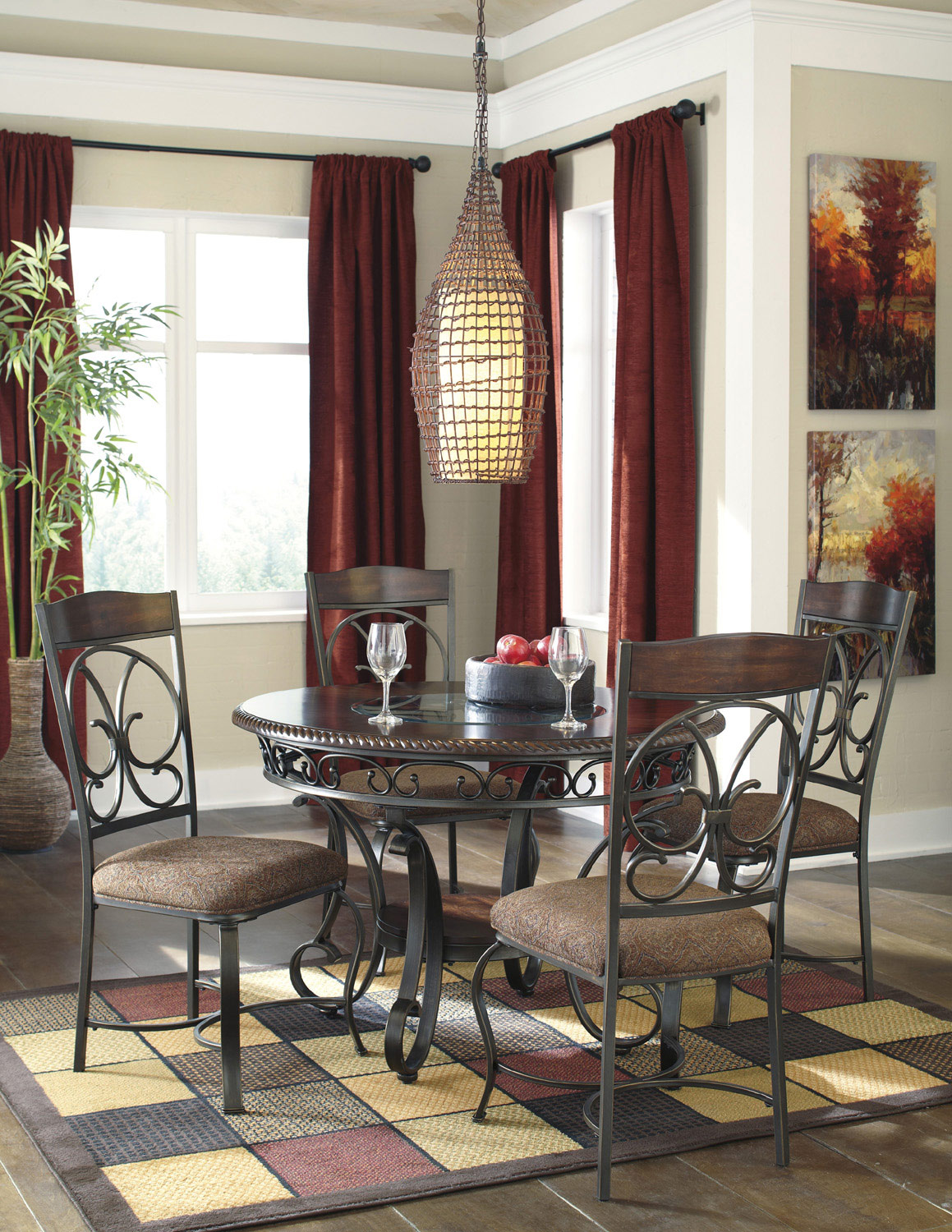 Glambrey Round Dining Room Table | Ashley | Home Gallery Stores ...