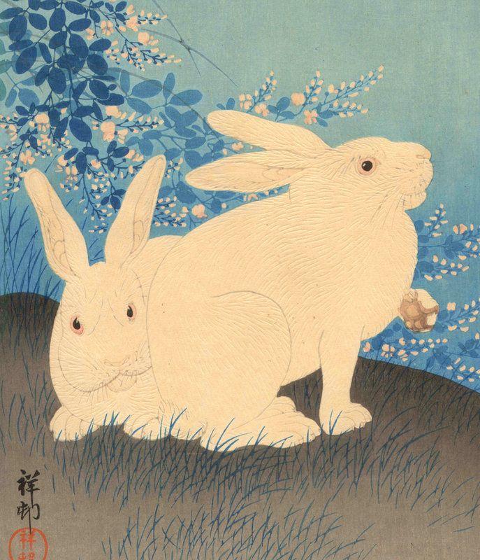 Ohara Koson, Rabbits