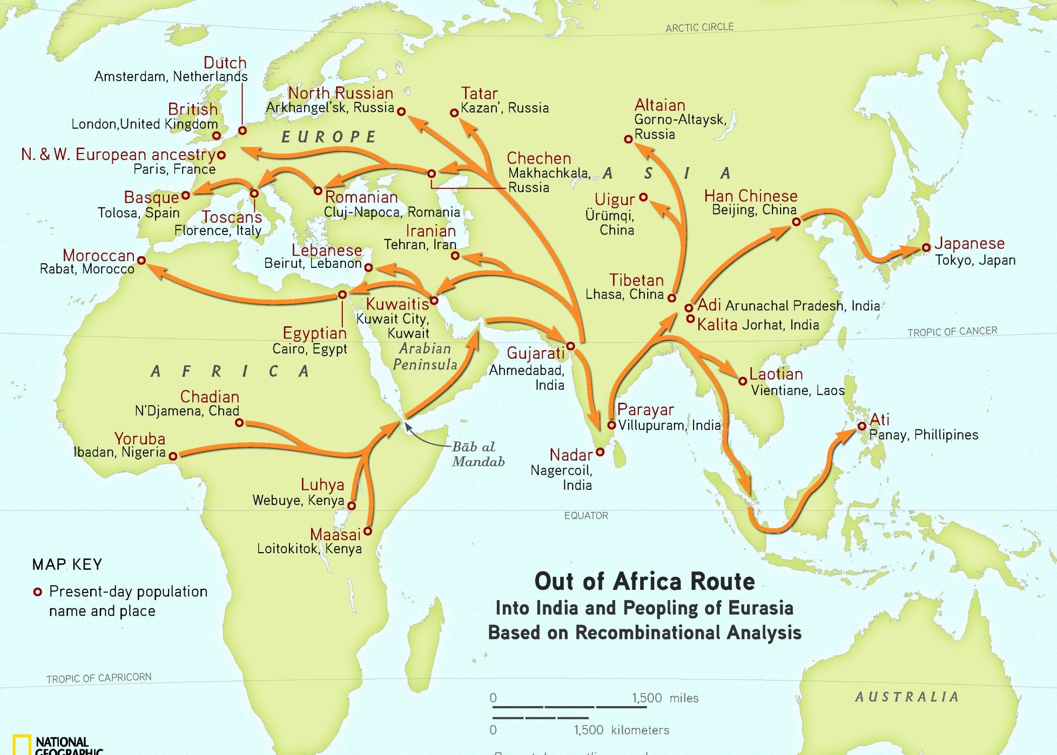 Modern Humans Wandered Out of Africa via Arabia | Genome project ...