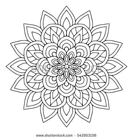 Flower Mandala Coloring Pages Vector Designs Trend